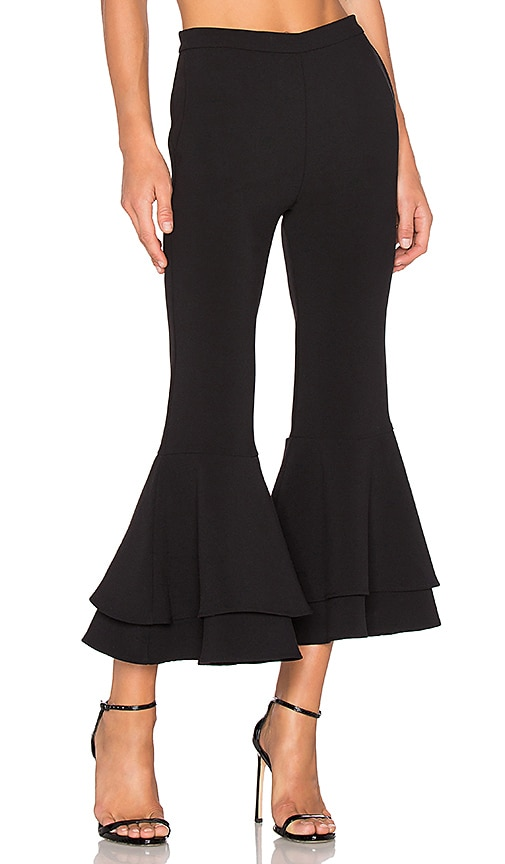 Backstage x REVOLVE Supafly Crop Double Ruffle Pant in Black
