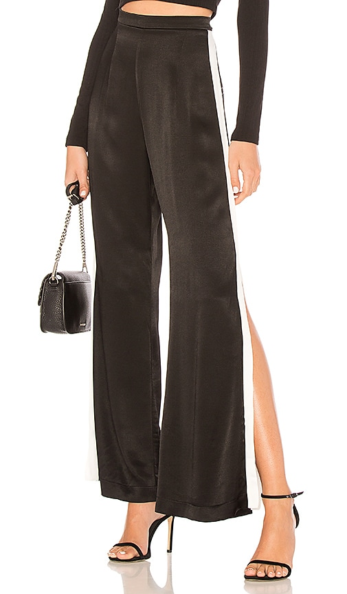 BACKSTAGE X Revolve Lets Split Pant in Black & White