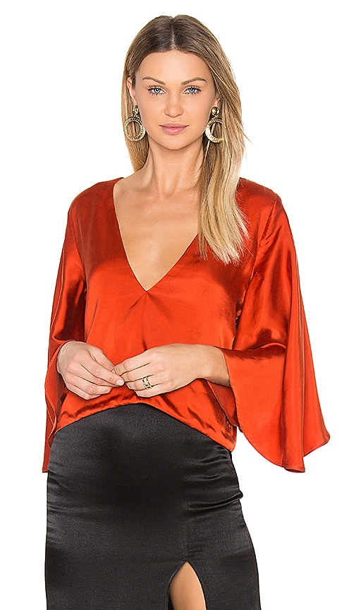 Backstage Alicia Top in Orange