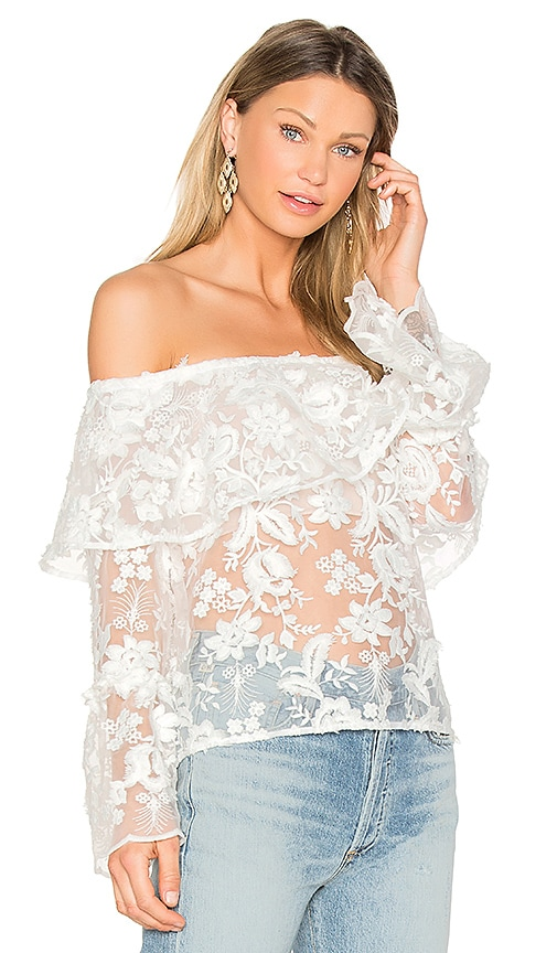 Backstage The Garden Delight Top in White