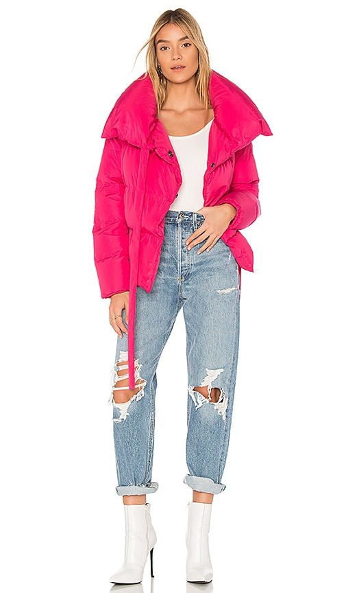 Bacon Puffa Jacket in Pink