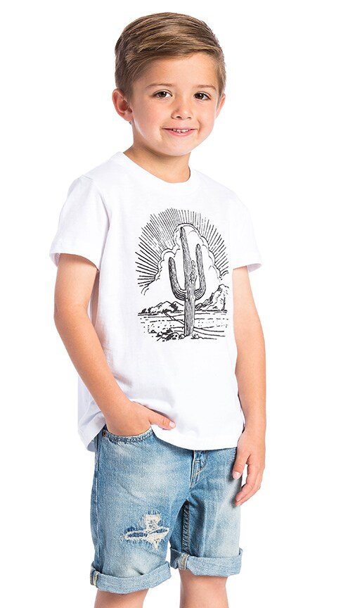 BANDIT BRAND Cactus Kids Tee in White & Black