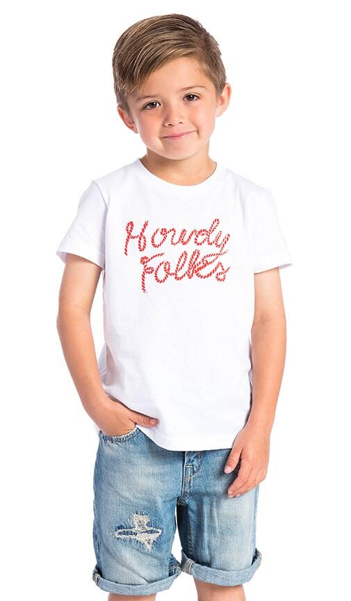 BANDIT BRAND Howdy Folks Kids Tee in White