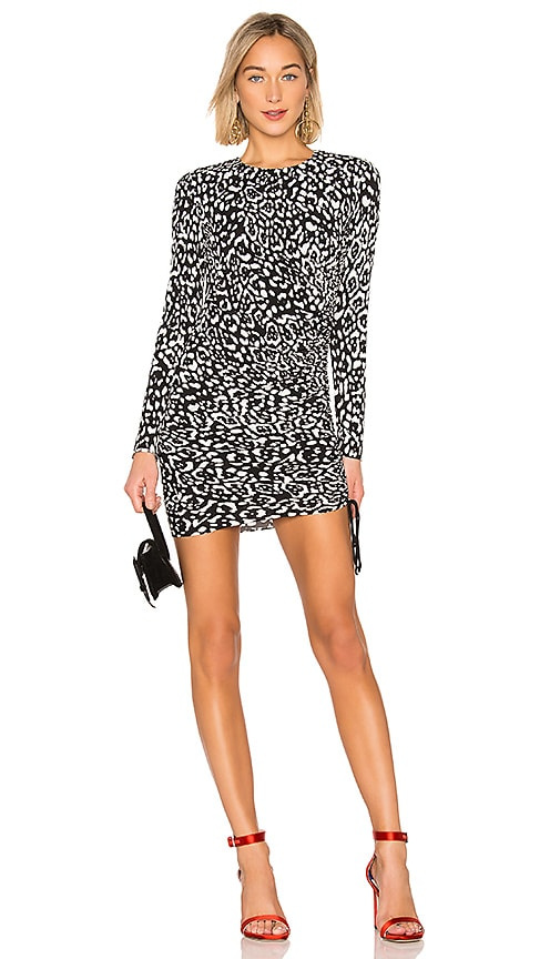 fceae6d5c896 Bailey 44 Boogie Wonderland Leopard Dress in Black   Chalk