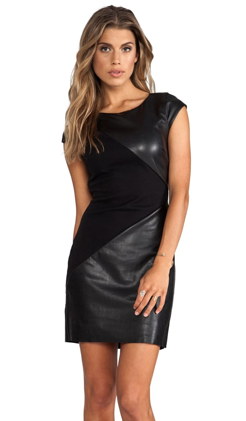 Disc Leather Detail Dress