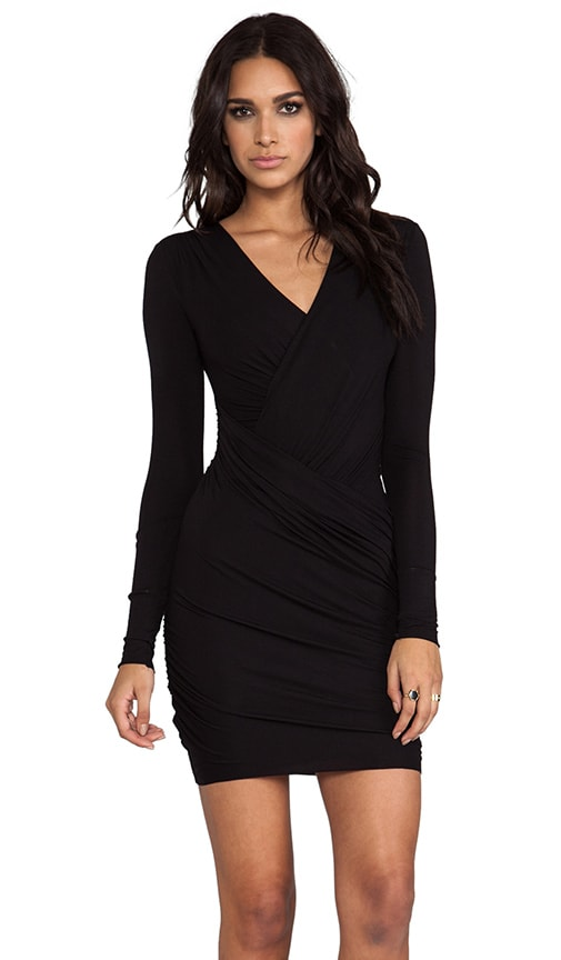 Refresh Body Con Wrap Dress