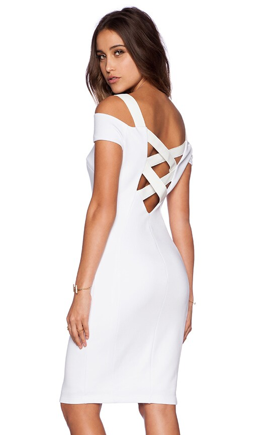 Bailey 44 Drop Shot Dress in White