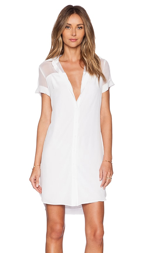Bailey 44 Court Shirt Dress in White