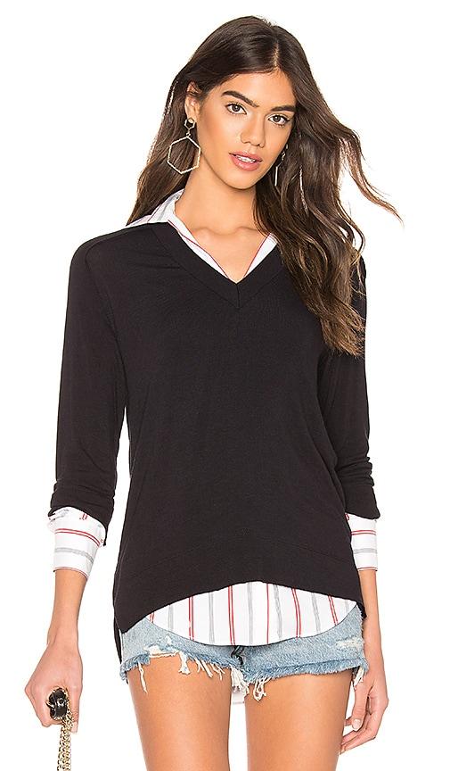 Trompe L'oeil Sweater Knit Top
