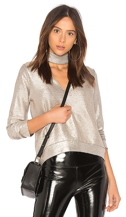 Bailey 44 A List Sweater in Metallic Neutral