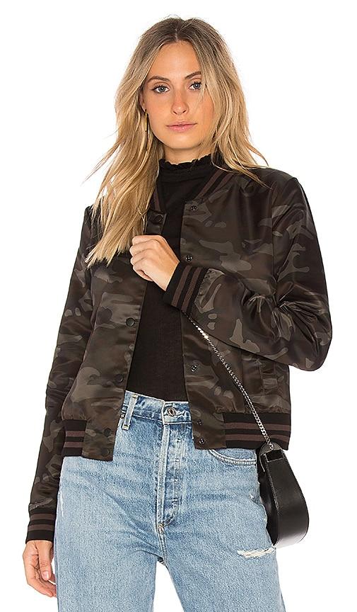 Bailey 44 Camo Jungle Bomber Jacket in Black