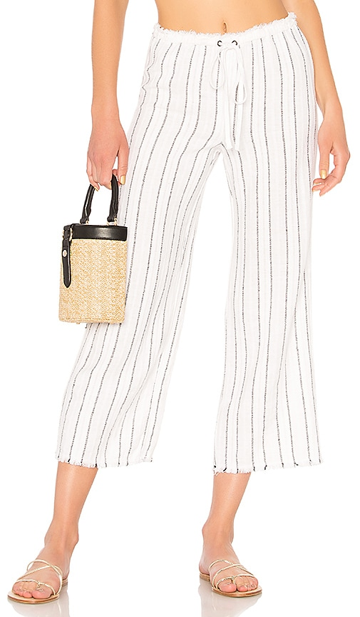 Bailey 44 Poppy Seed Stripe Pant in White