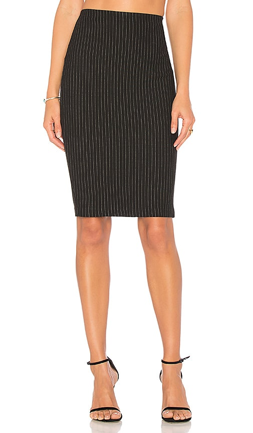 Bailey 44 Striped Resplendent Pencil Skirt in Black