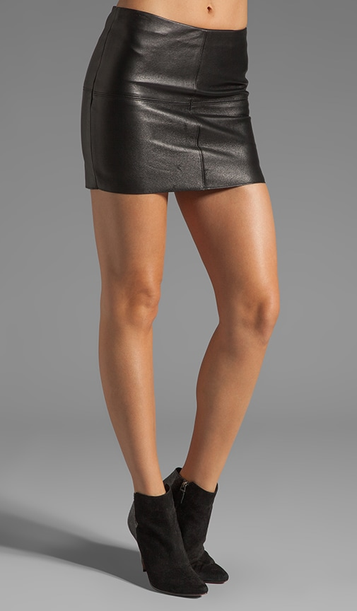 Turtle Mini Leather Skirt