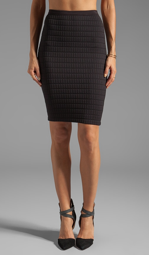Scanner Quilted Pencil Skirt