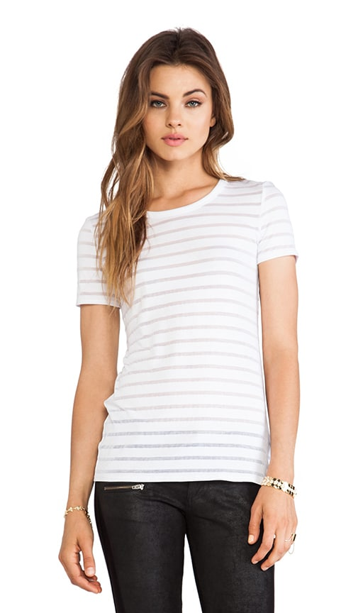 Core Sheer Striped Top