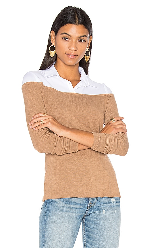Bailey 44 Alicia Sweater Top in Tan