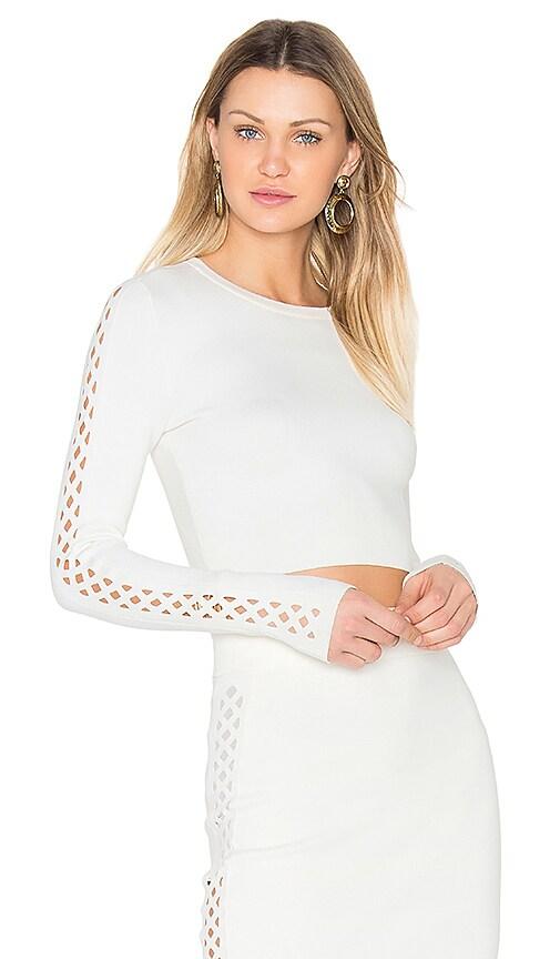 Bailey 44 Short Splice Sweater in White