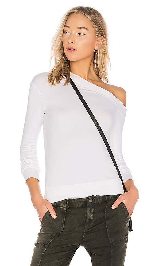 Bailey 44 Titled One Shoulder Top in Ivory