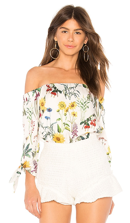 Bailey 44 Botanical Top in White