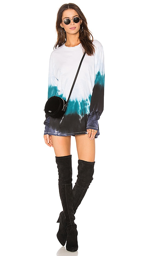 Baja East Graphic T-Shirt Dress in White