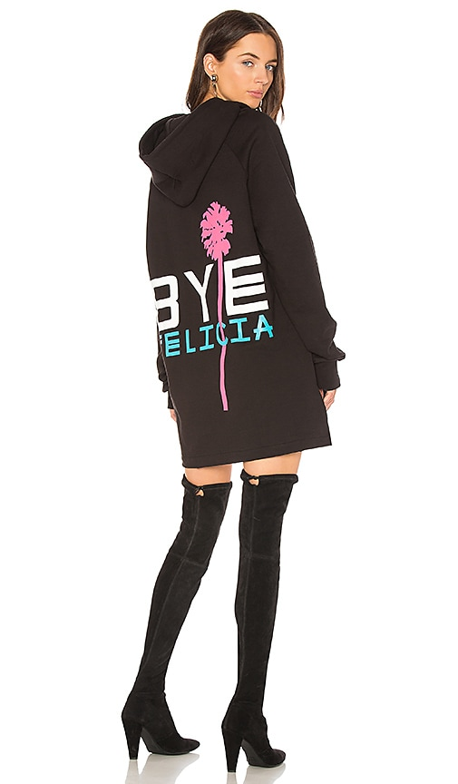 Baja East Bye Felicia Sweatshirt Dress in Black