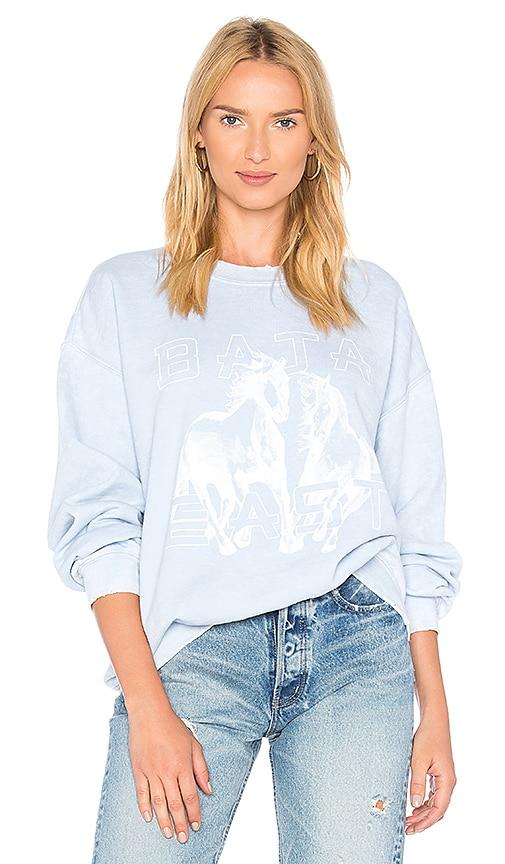 Baja East Horse Sweatshirt in Baby Blue
