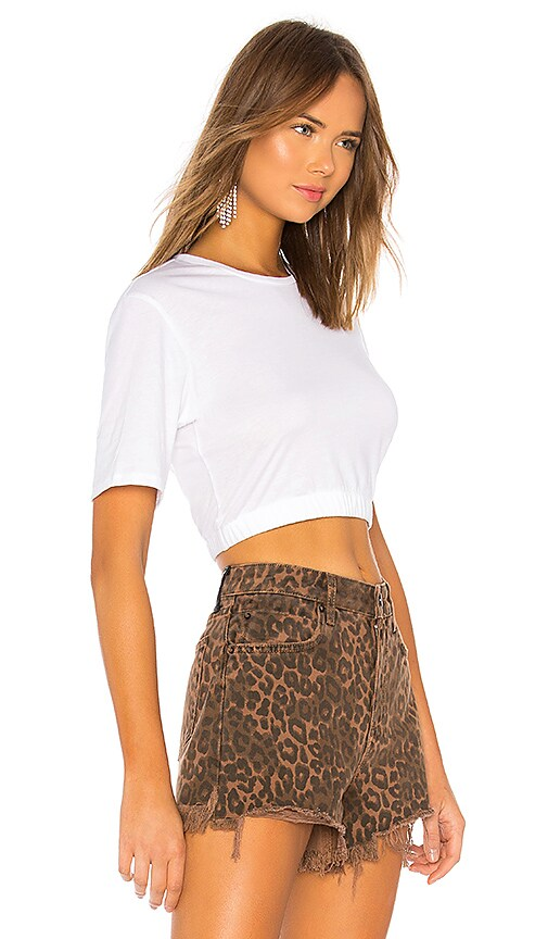 Thriving Baby Doll Crop Tee by Baja East