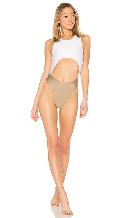 Baja East Cut Out One Piece in White