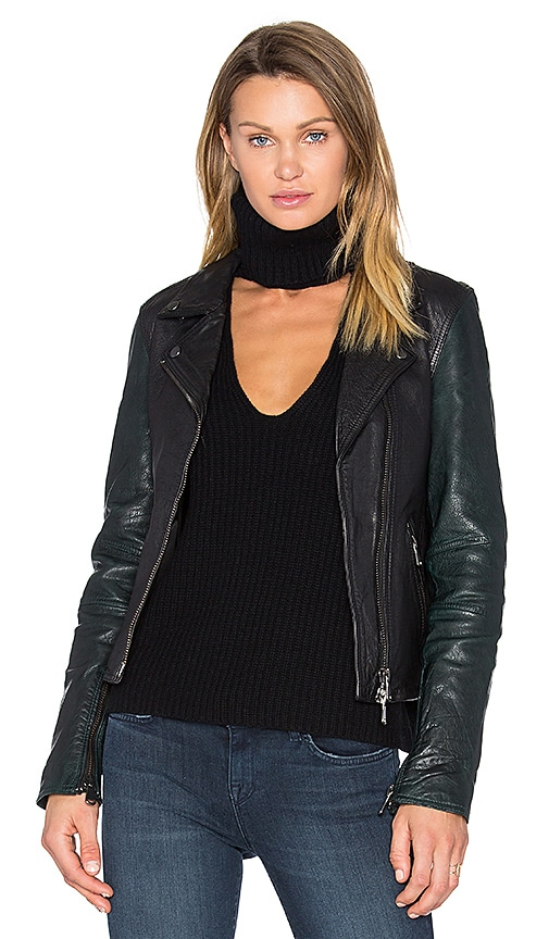 baldwin Sadie Leather Moto Jacket in Black
