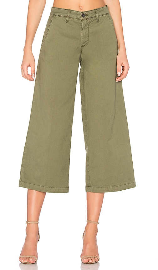 baldwin Devin Crop Trouser in Olive
