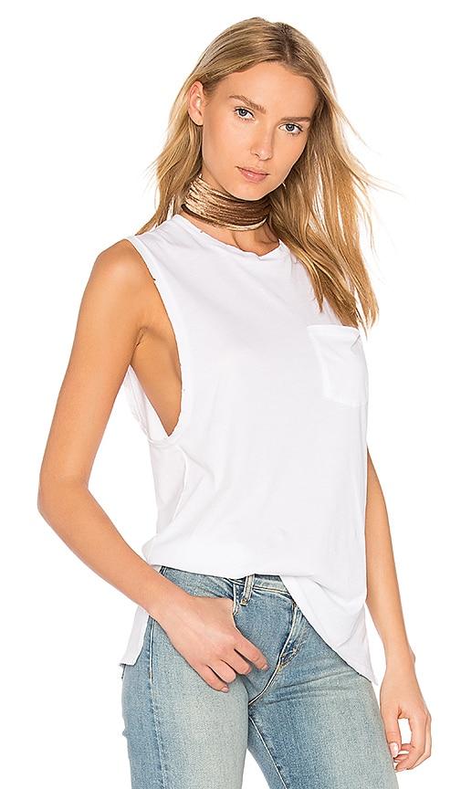 baldwin Jenn Muscle Tank in White