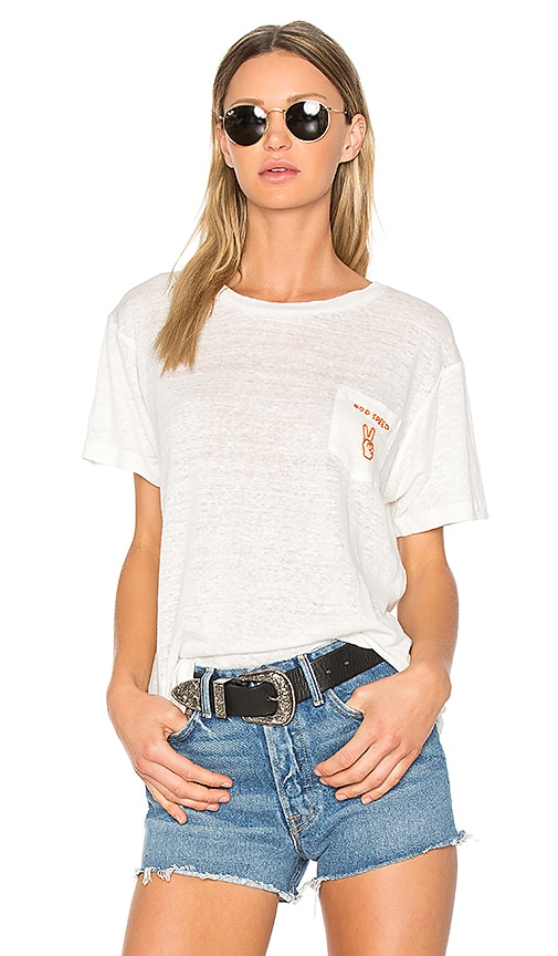 Banner Day God Speed Pocket Tee in White