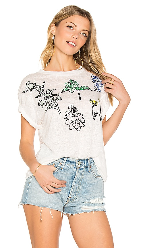 Banner Day Flowers Of The Great Lakes Tee in Ivory