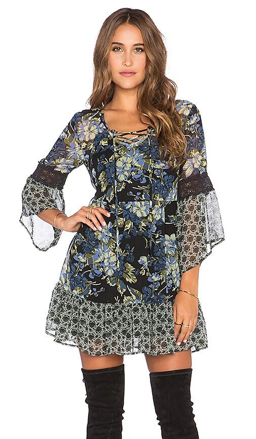Lace Front Mini Dress