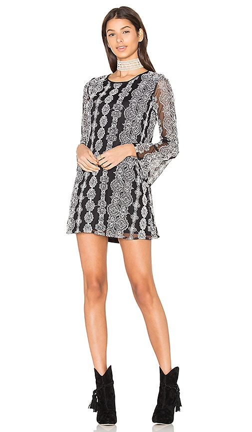Band of Gypsies Geometric Dress in Black & White