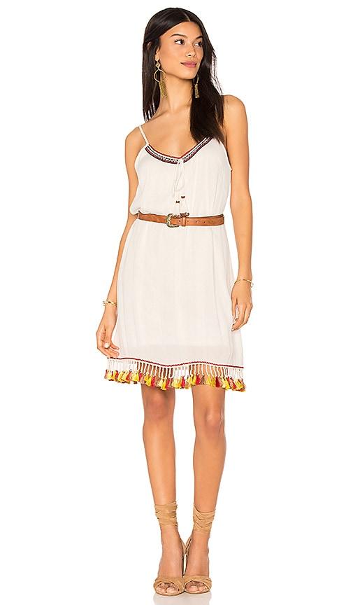 Tassel Trim Belted Shift Dress