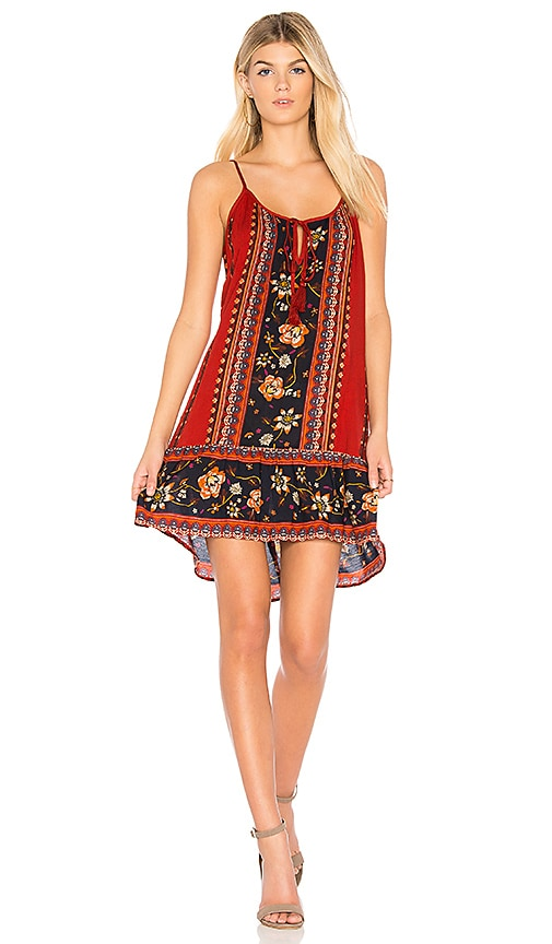 Band of Gypsies Bohemian Tank Dress in Rust