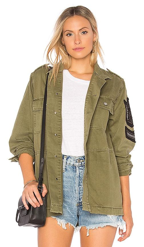 Soutache Patch Military Jacket