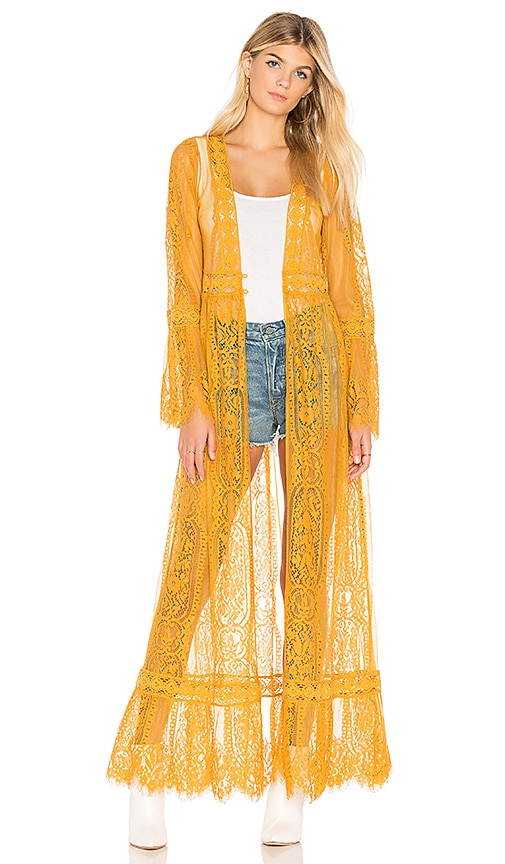 Band Of Gypsies LACE BELL SLEEVE DUSTER