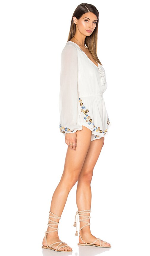 806569c5eca4 70%OFF Band of Gypsies Embroidered Romper in Ivory   Yellow - mfpc.ie