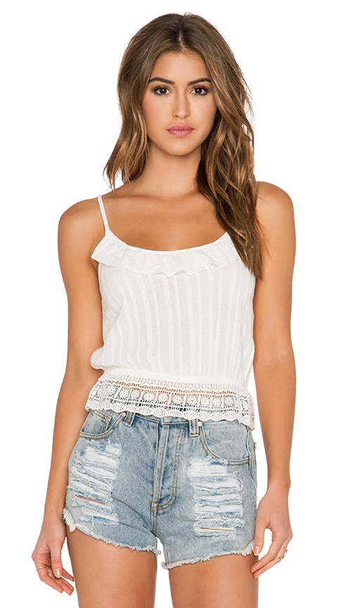 Band of Gypsies Picnic Tank in White