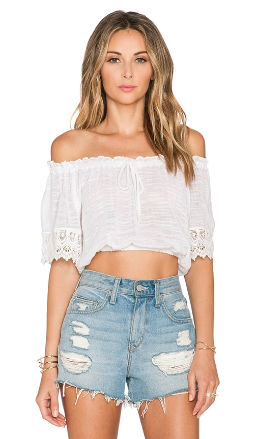 Band of Gypsies Crop Top in Cream