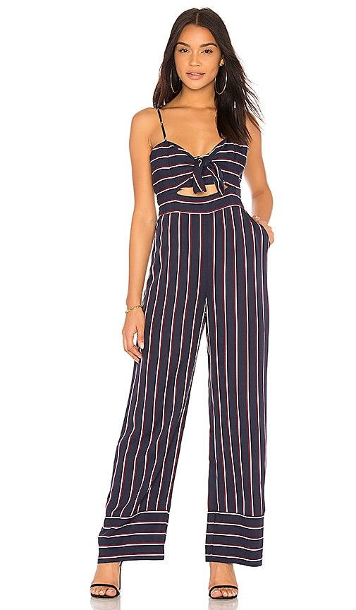 1cd72573001 Bardot Lulu Jumpsuit in Navy Stripe