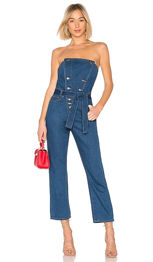 Blue Jean Bustier Jumpsuit