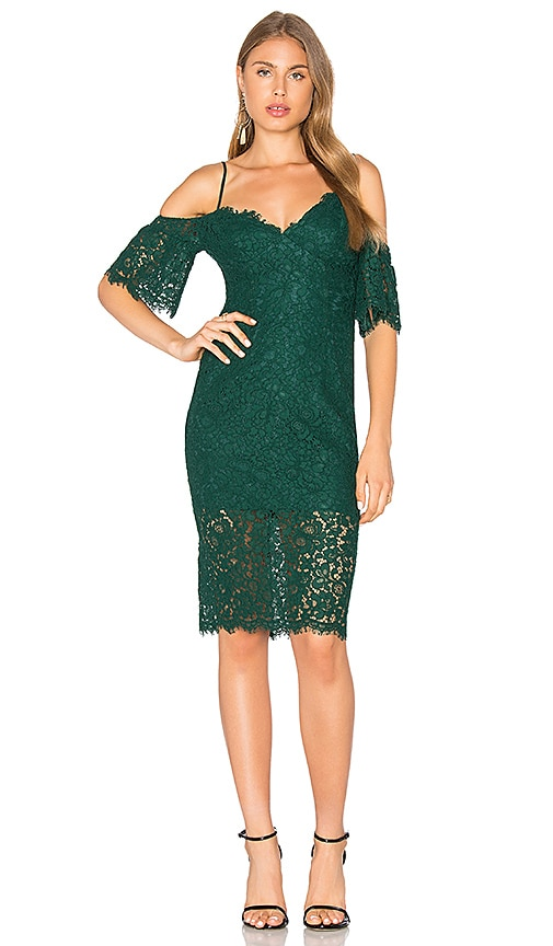 Bardot Karlie Lace Dress in Green