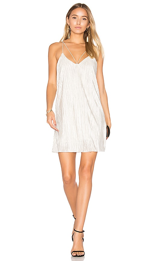 Bardot Layla Slip Dress in Metallic Silver