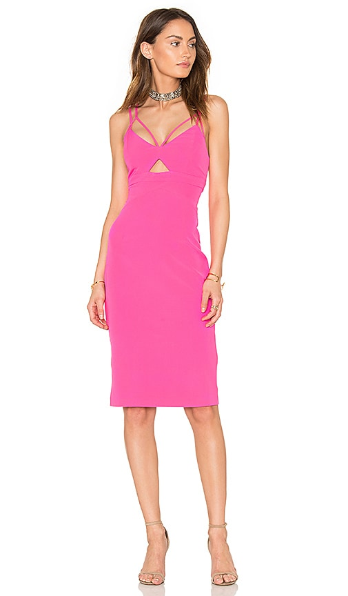 Bardot Cutaway Dress in Pink