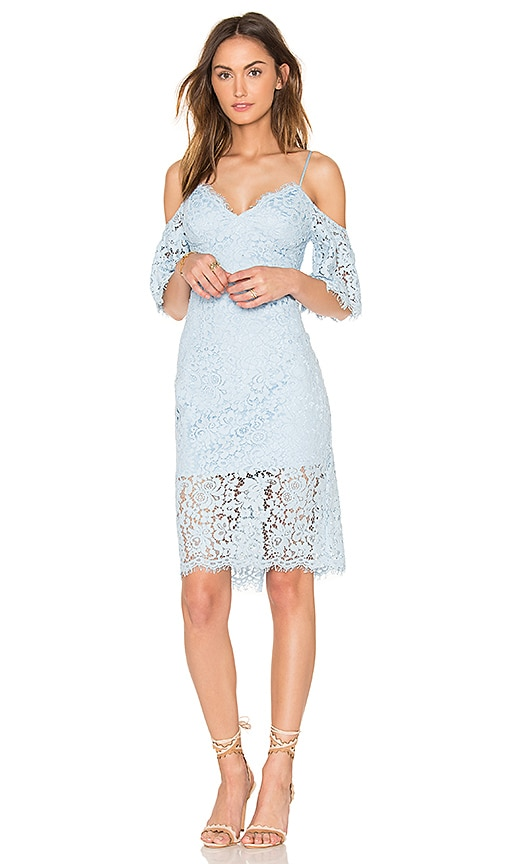 Bardot Karlie Lace Dress in Blue