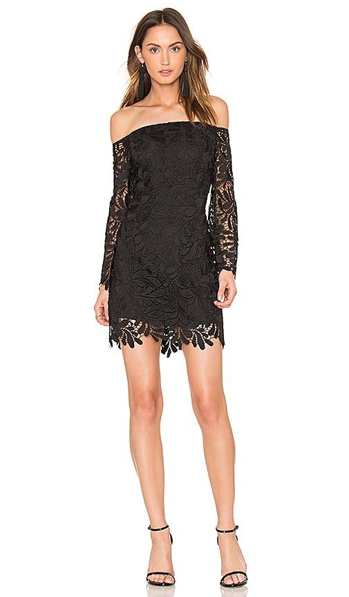 Bardot Flora Lace Dress in Black